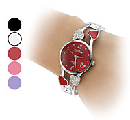 Women's Quartz Analog Heart Style Hollow Alloy Band Bracelet Watch (Assorted Colors)