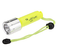 Torce LED / Torce da immersione / Torce (Impermeabili / Ricaricabile) - LED 1 Modo 1000 Lumens 18650 Cree XM-L T6 Batteria -