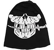 Ultime Copricapo in cotone maschera pieno facciale con stampa Scheletro Umano (pattern Three)