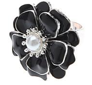 Черная капля нефти большой цветок Жемчужное кольцо