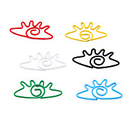 Cartoon Eye Shape Metal Paper Clips (10PCS Random Color)