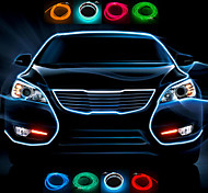 1 Meter Flexible Car Decorative Neon Light 2.3mm EL Wire Rope with Car Light Inverter