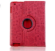 Adorable Fee Muster PU-Leder Tasche für iPad 2/3/4