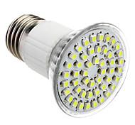 E27 3.5W 48x3528SMD 145-195LM 6000-6500K Natural de la luz blanca LED del bulbo del punto (85-265V)