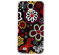 Flores coloridas Caso duro del patrón para Samsung i9500 Galaxy S4
