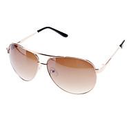 Unisexe Brown Gradient Lens Brun Cadre Lunettes de soleil aviateur