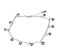 White Bell Metal Anklet