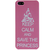 Castle in Pink Backgroud Pattern PC Hard Case for iPhone 5/5S