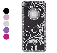 For iPhone 5 Case Rhinestone Case Back Cover Case Flower Hard Aluminium iPhone SE/5s/5