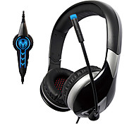 Sômica G945 USB2.0 7.1 Sound Effect Over-Ear Gaming Headphone com microfone e remoto para PC