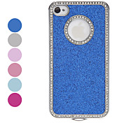 Diamond Frame Shimmering Powder Hard Case for iPhone 4/4S (Assorted Colors)