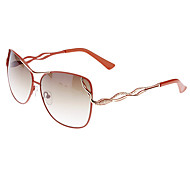 Women's Gradient Brown Lens Red Frame UV400 Protection Butterfly Sunglasses