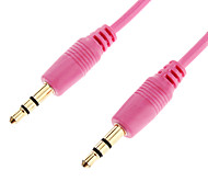 3.5mm Male to Male Audio Connection Cable Pink (1.5m)