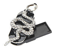 32GB Metal Jewelry Snake Shaped USB Flash Drive