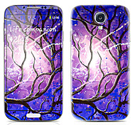 Branch Pattern Front and Back Protector Stickers for Samsung Galaxy S4 I9500