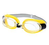 3-in-1 des lunettes de natation Lunettes Set w / Nose Clip + Ear Plugs - Noir + Transparent + Jaune