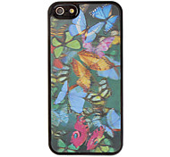 3D Various Colors Butterflies Image Hard Case for iPhone 5/5S