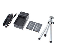TRIPOD and 2x NP-20 Battery with Charger for CASIO Exilim EX-Z70 EX-Z4U EX-S600