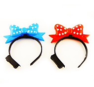 Light-up Bowknot Hair Clasp Concert Props B(Random Color)