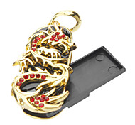 Metal 2GB Golden Dragon USB Flash Drive