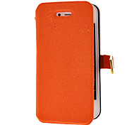 Solid Color Grin Pattern Full Body Case with Magnetic Snap for iPhone 4/4S