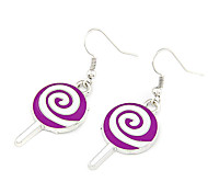 Silver Plated Alloy Candy Pattern Earrings