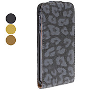 Leopard Print Flip up and down Designed Full Body Case for iPhone 5/5S (Assorted Colors)