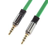 Masculino 3,5 mm para conexão de áudio Masculino cabo Golden Green (1.2m)