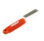 Stainless Steel One-sided Comb with Plastic Handle for Pets