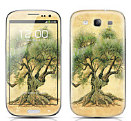 Big Tree Pattern Front and Back Protector Stickers for Samsung Galaxy S3 I9300