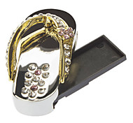 32GB de Metal Jewelry Slipper USB Flash Drive