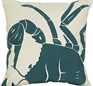 "18 ""Quadrat Crab Stickerei Polyester Dekorative Kissenbezug"