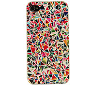VORMOR® Colorful Triangle Montage Pattern Back Case for iPhone 4/4S