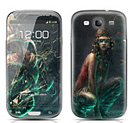 Tattooing Girl Pattern Front and Back Protector Stickers for Samsung Galaxy S3 I9300