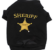 Sheriff Atmungsaktive Terylene T-Shirt für Hunde (XS-L)