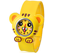 Children's Tiger Style Bendable Plastic Band Slap Wrist Watch
