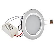 """2.5 """"24x2835SMD 4W 200-220LM 5800-6500K Natural Luz Blanca LED Lámpara de techo (110-240V)"""
