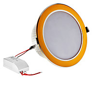 Dimmable 12W 1080LM 6000-6500K Natural White Light Ouro Shell Lâmpada LED de teto (220V)