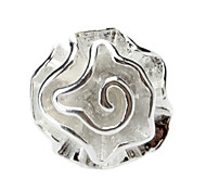 Rose Shaped Silver Adjustable Ring