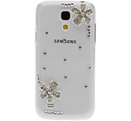 Bling Bling Elegant Flower Design Hard Case met Rhinestone voor Samsung Galaxy S4 Mini I9190