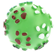 Dogs Toys Ball Squeak Rubber Green