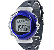Unisex Heart Rate Monitor Calorie Counter Style Rubber Digital Automatic Wrist Watch (Assorted Colors)