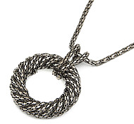 Alloy Circle Pendant Necklace(Assorted Colors)