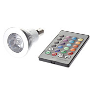 E14 3W 1 High Power LED 180 LM MR16 Remote-Controlled LED Spotlight AC 85-265 V