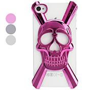 3D Skull Hollow Salida Diseñado caja dura de la PC para el iPhone 4/4S (colores opcionales)
