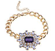 European Style Full Gem Crystals Charm Bracelet