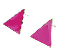Z&X®  Stunning Colorful Candy-Colored Colored Geometric Triangle Earrings