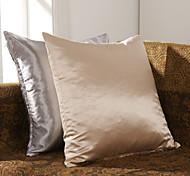 Juego de 2 Modern poliéster almohada cubierta decorativa Solid
