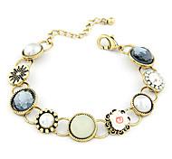 Flower Rhinestone Round Bracelet