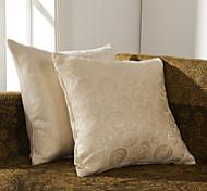 Juego de 2 Solid poliéster almohada cubierta decorativo geométrico